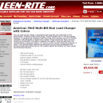 Kleen Rite Corporation   American 7815 Multi Bill Rear Load Changer with Coinco